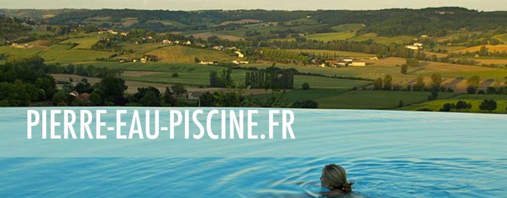 Pierre eau piscine